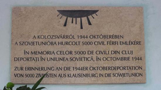 Emlékművet avatnak a kolozsvári áldozatoknak