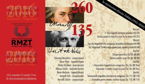 Mozart-Bartók Emléknapok – második koncert