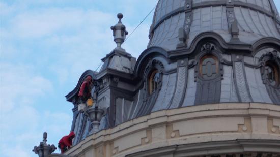 Állagmegörző festést végeztek a Státus-palotán