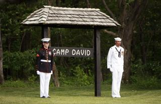 Donald Trump először tölti a hétvégét a Camp Davidben lévő elnöki rezidencián