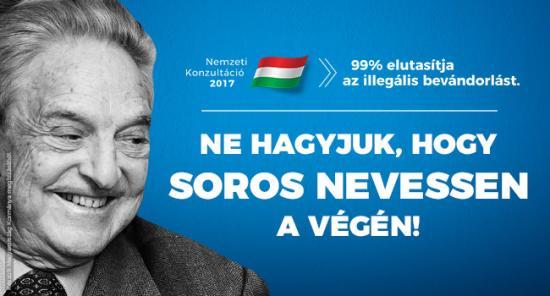 Soros György antiszemita képi ábrázolásmód használatával vádolja a magyar kormányt
