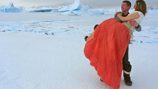 Brit sarkkutatók házasodtak az Antarktiszon