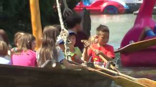 VIDEÓ - Vikingek a sétatéri tavon