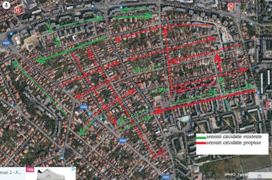 Egyirányú utcák a Györgyfalvi negyedben?