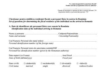50–100 lej bírság a román állampolgároknak, akik nem töltik ki az ANAF kérdőívét