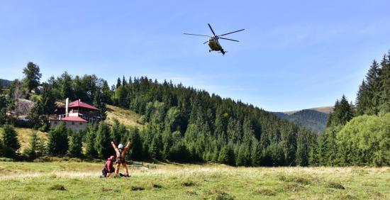 Helikopteres továbbképzést szerveztek hegyimentősöknek