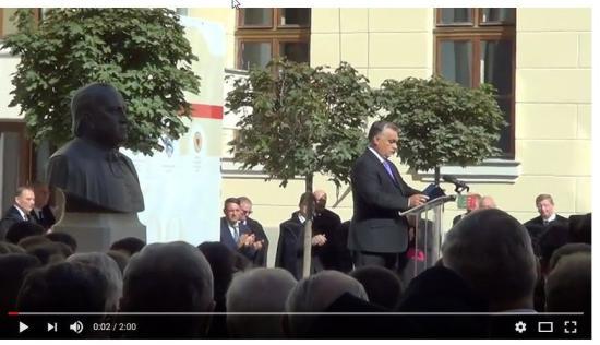 VIDEÓ - Tapsviharral fogadták a magyar miniszterelnök felszólalását