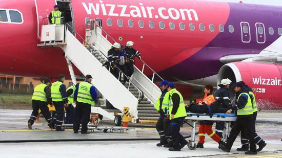 Légi katasztrófát szimuláltak a kolozsvári repülőtéren