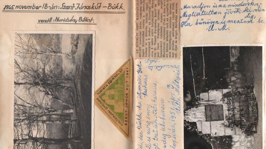 Nuridsány Bálint cipészmester fényképes-rajzos feljegyzései 1945-46-ból