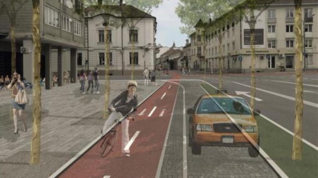 Biciklisáv kialakítása, forgalomcsökkentés a terv