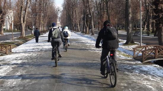 Kerékpáros felvonulás a városi biciklis közlekedésért
