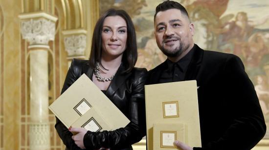 Rúzsa Magdi és Caramel Máté Péter-díjas