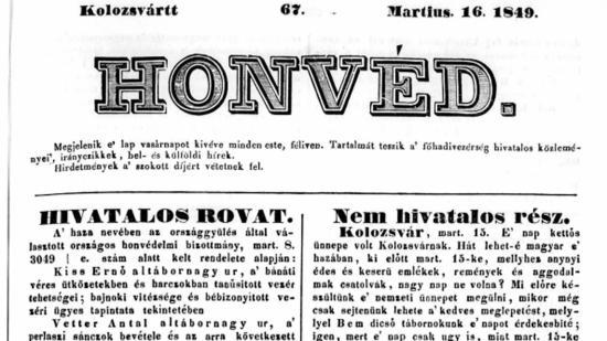 Egy évvel a forradalom után: ünnep Kolozsváron, Tordán és Szilágysomlyón 1849. március 15-én