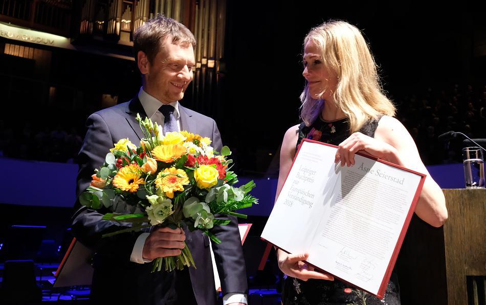Európai Megértésért díjat kapott Asne Seierstad
