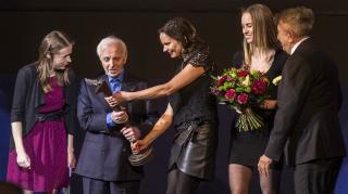 Kristián-díjat kapott Charles Aznavour a Febiofest-en