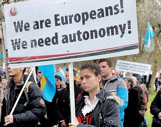 """Újabb """"nem"""" Székelyföld területi autonómiájára"""