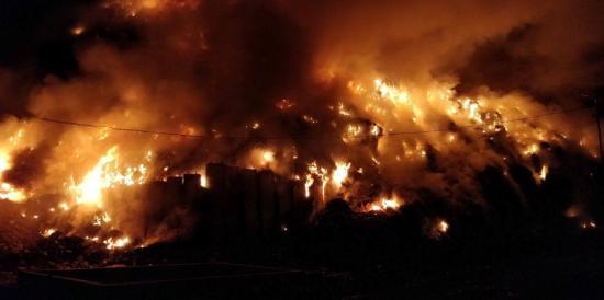 Tűz ütött ki a pataréti szeméttelepen