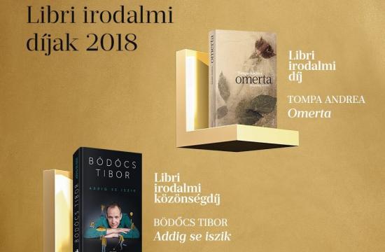 Tompa Andrea nyerte az idei Libri irodalmi díat