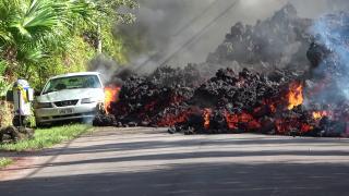 A hawaii Kilauea vulkán hamuját Mikronéziára sodorta a szél