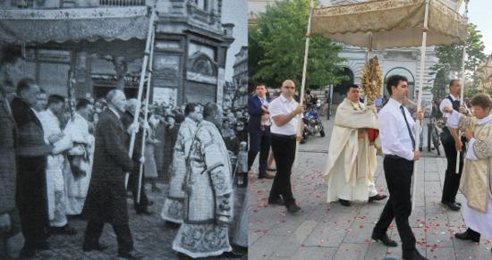 Rendhagyó Úrnapi körmenet Kolozsvár Főterén, Márton Áron nyomában