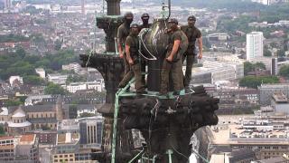 Kommandósok mászták meg a kölni dómot