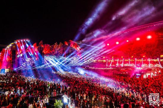 Tűz az Untold fesztiválon