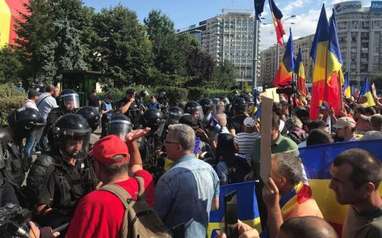 Csendőrség: jól szervezett csoportok provokáltak erőszakot a diaszpóra pénteki tüntetésén