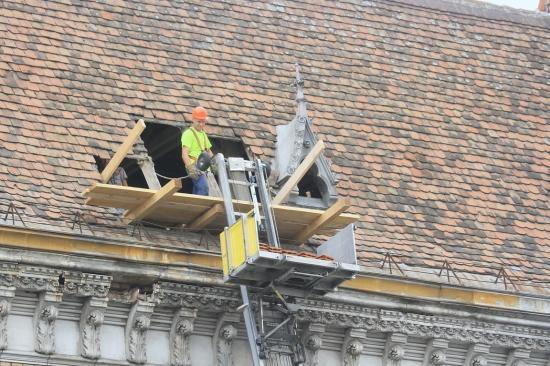 Zajlik a Széki-palota felújítása