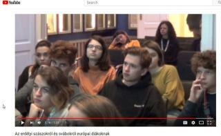 VIDEÓ - Az erdélyi szászokról és svábokról európai diákoknak