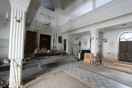 Zajlik a kolozsvári zsinagóga felújítása
