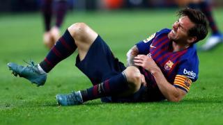 Lionel Messi három hétig nem futballozhat