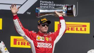 Egyesült Államok Nagydíja: Kimi Räikkönen nyert, Lewis Hamilton még nem világbajnok