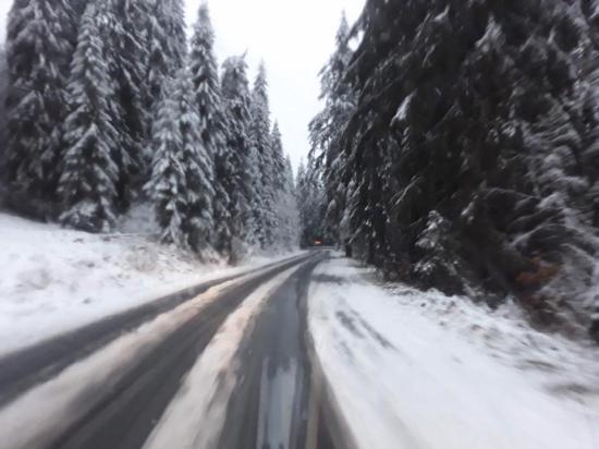 Megmaradt a hó a Bucsin-tetőn