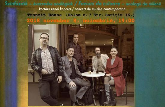 Színfúziók – kortárs zenei koncert a Tranzit Házban