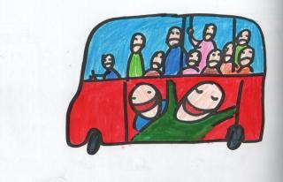 Kedd reggeli buszozás