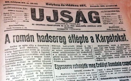Gyulafehérvár 1918 – Szemelvények a korabeli magyar sajtóból