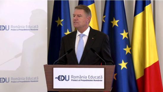 Tanult Románia elnevezéssel kezdeményezett átfogó oktatási projektet Klaus Johannis
