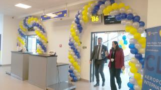 Két új beszállókapu a külföldre utazóknak a kolozsvári reptéren