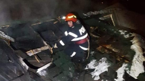 Leégett egy nagyenyedi vendéglő teteje