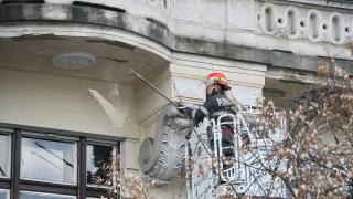 Lehullt a vakolat az Első Magyar Biztosítótársaság székhelyéről
