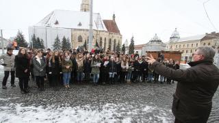 Magyar kultúra napja: villámcsődület Kolozsvár főterén