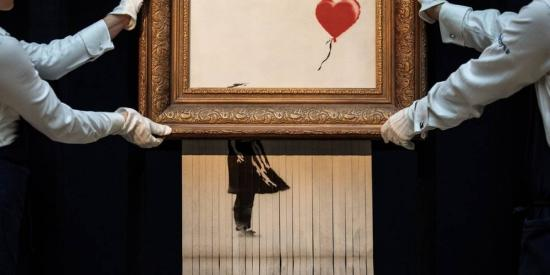 Banksy önmagát félig megsemmisítő műve Stuttgartba kerül