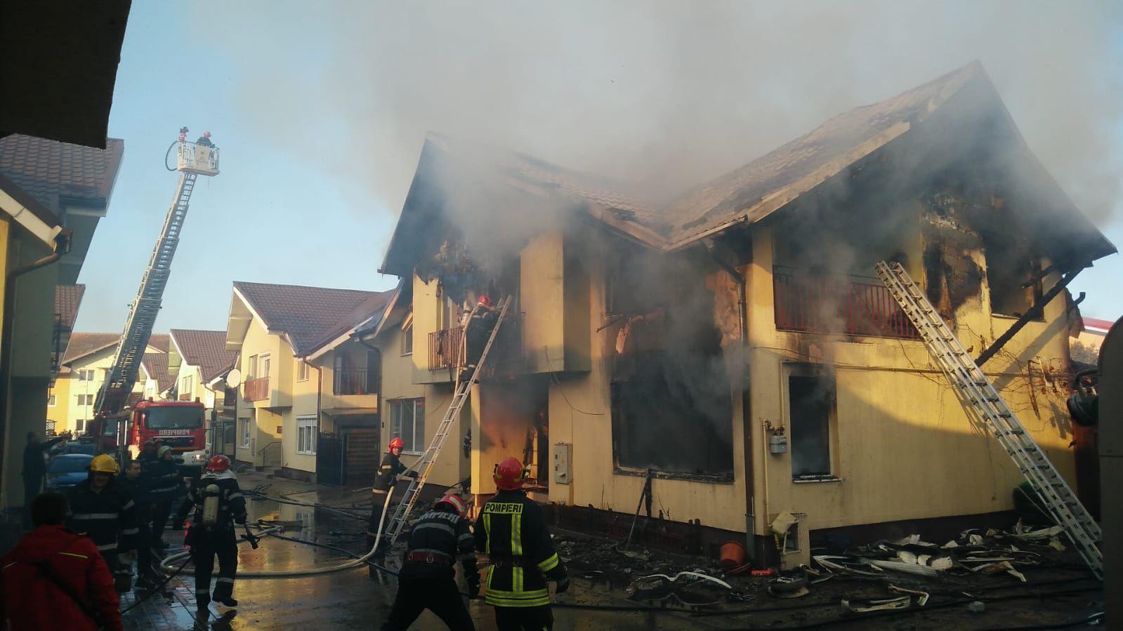 Magánház égett le Szászfenesen