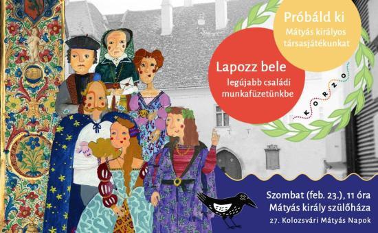 Babérkoszorús örökség: családi munkafüzet és társasjáték Mátyásról és koráról