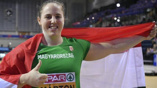 Fedettpályás atlétikai Eb: Márton Anita bronzérmes súlylökésben