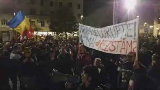 VIDEÓ - Kormányellenes tüntetés Kolozsváron