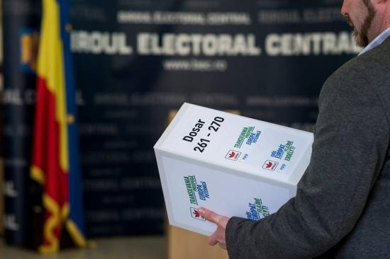 Iktatta EP-jelöltlistáját az RMDSZ a BEC-nél