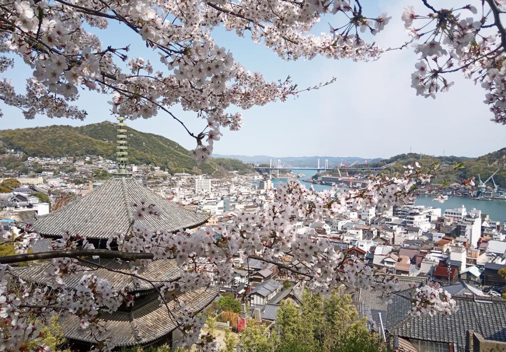 Onomichi a Senkoji-hegyről nézve