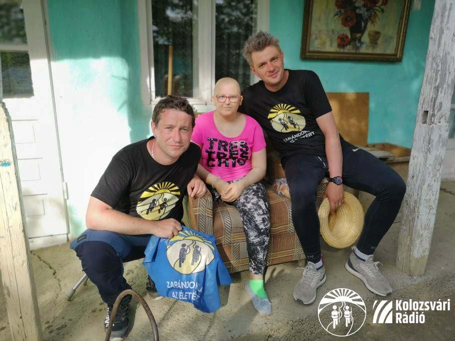 Ferencz Zsolt és Varga-Mihály Márton humanitárius zarándoklata a pápalátogatásra