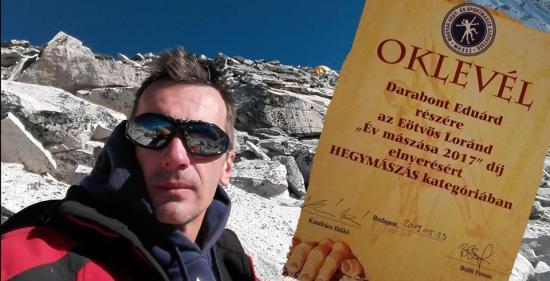 Aranyhegy helyett díszoklevél: kolozsvári az év hegymászója